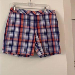 Izod size 12 Madras shorts